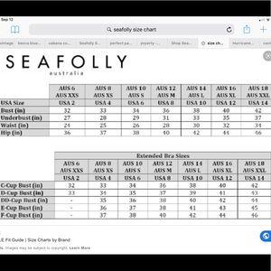 Seafolly Swim - NWT $149 SEAFOLLY BOYLEG  US 14 ONE PIECE RED
